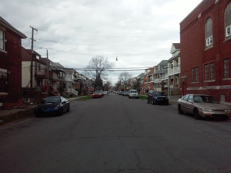 Американский взгляд улицы города стоковые фотографии rf