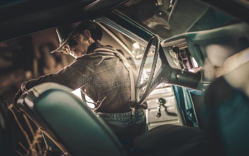 Американский водитель ковбоя стоковое фото rf