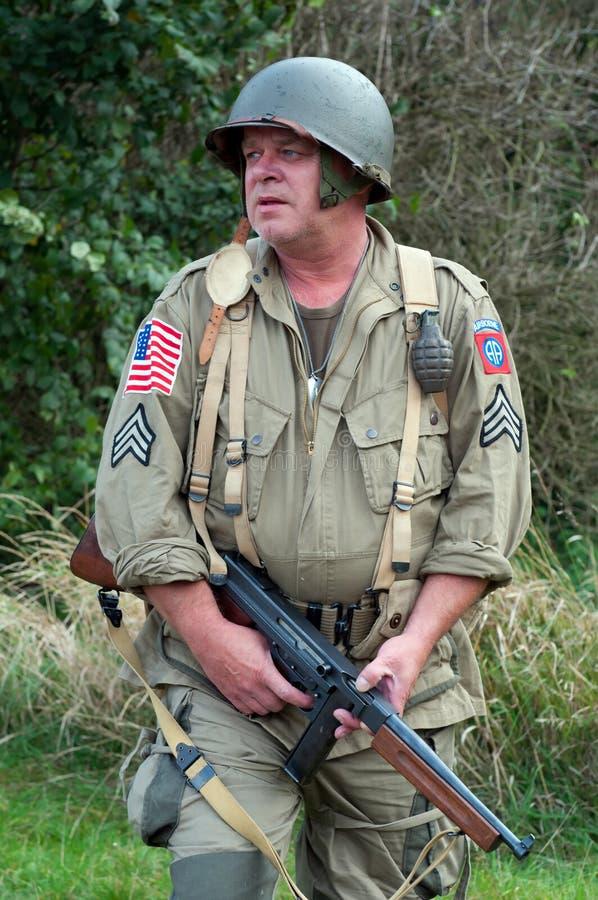 американский воин стоковая фотография rf