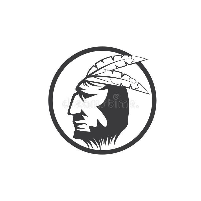 Американский главный человек в племенном головном уборе бесплатная иллюстрация