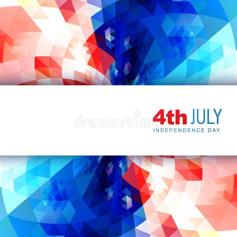 Американский День независимости иллюстрация вектора