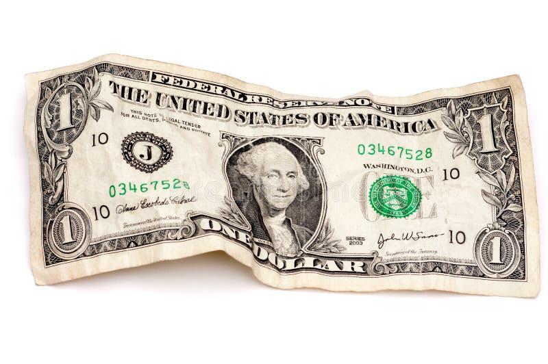 американский доллар счета сморщил стоковое изображение rf