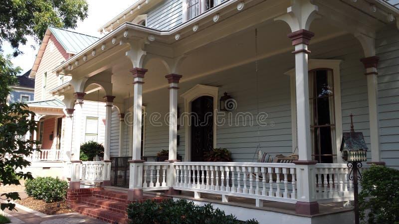 Американский деревянный дом стоковые фотографии rf