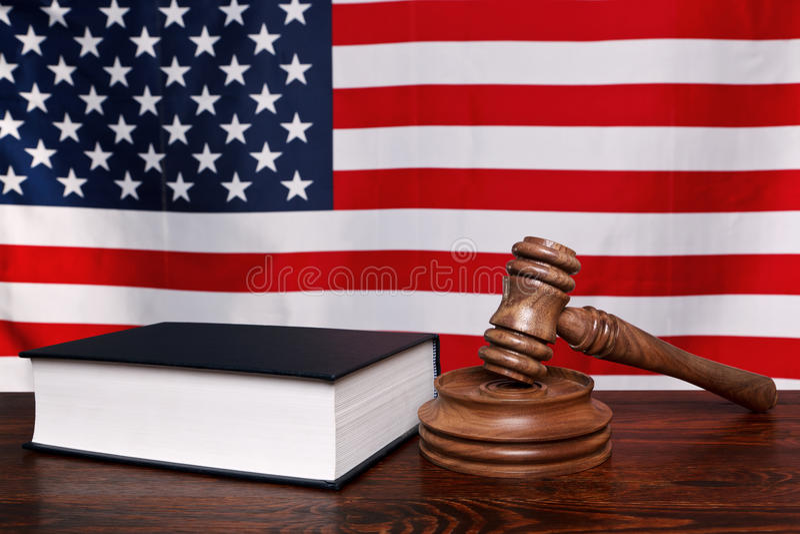 американский закон стоковое изображение rf