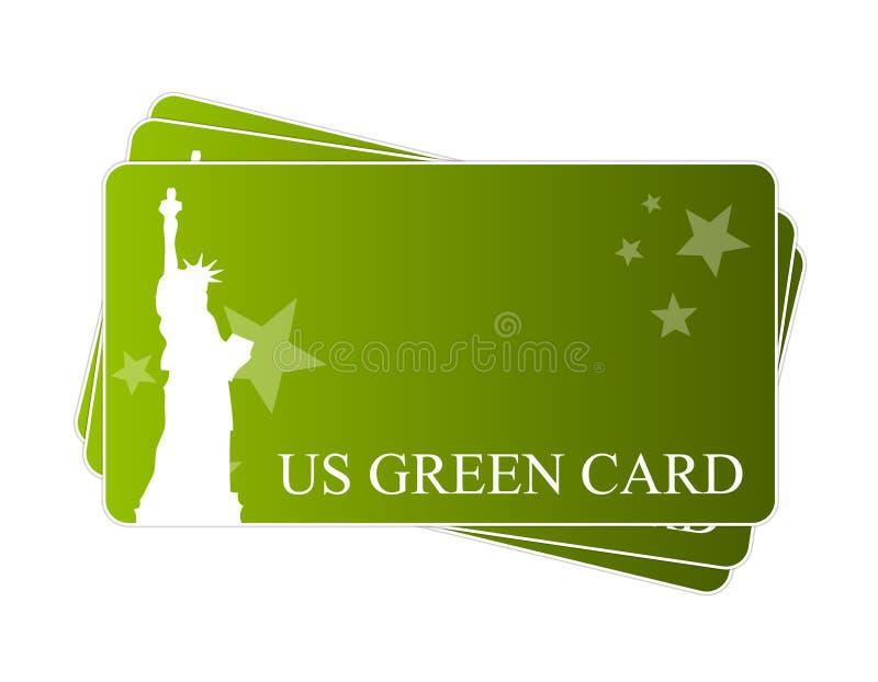американский зеленый цвет карточки иллюстрация вектора