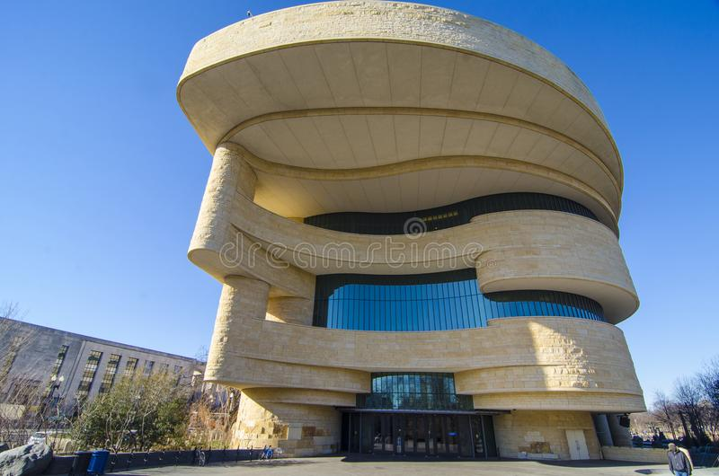 Американский индийский музей истории стоковые изображения