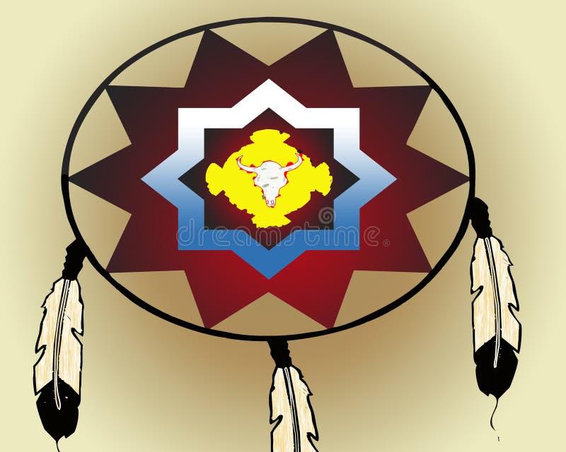 Американский индийский экран войны бесплатная иллюстрация