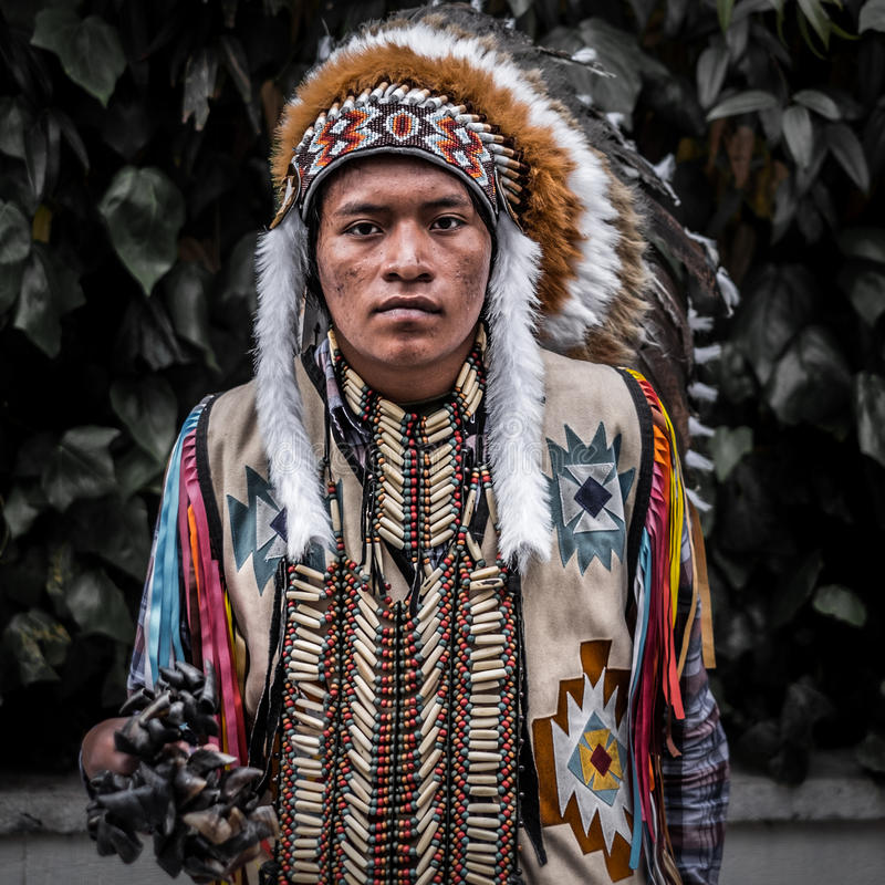 Американский индеец стоковые фото