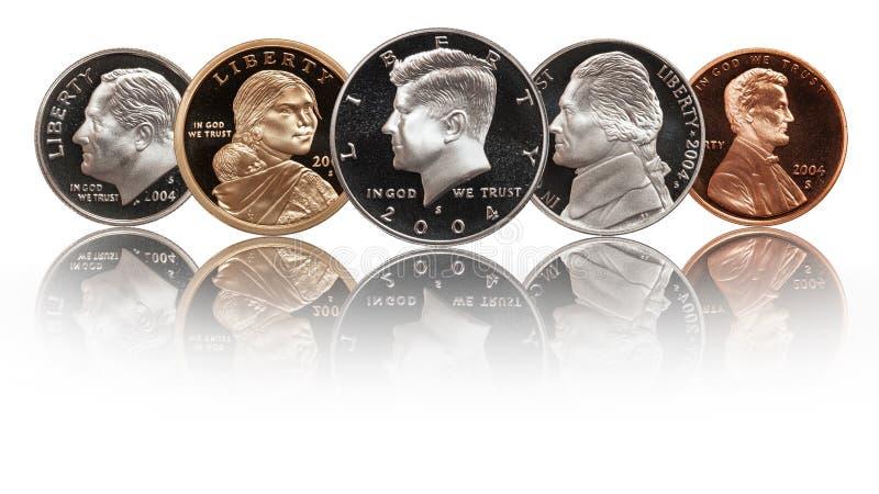 Американский набор монеток иллюстрация вектора