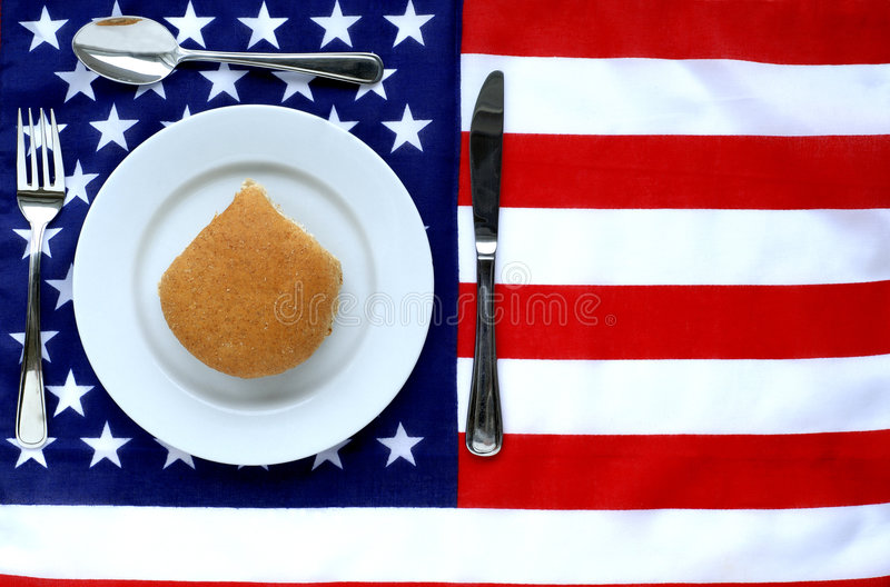 американский обед стоковое изображение
