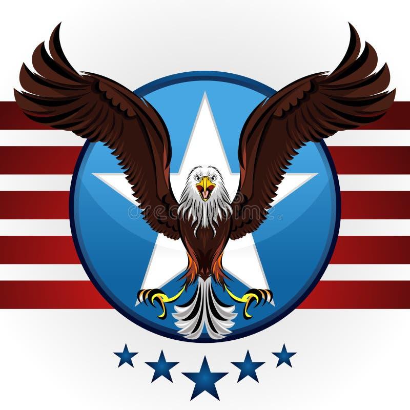 американский облыселый орел иллюстрация вектора