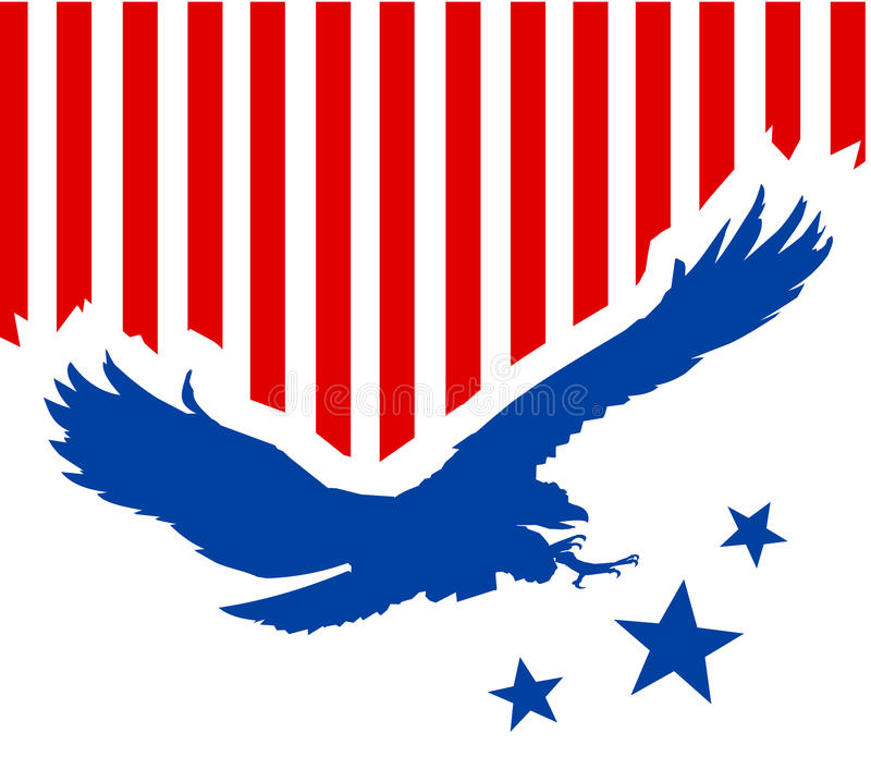 американский орел предпосылки иллюстрация вектора