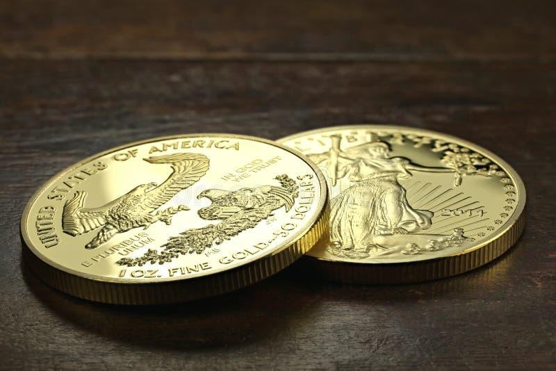 Американский орел золота стоковые изображения rf