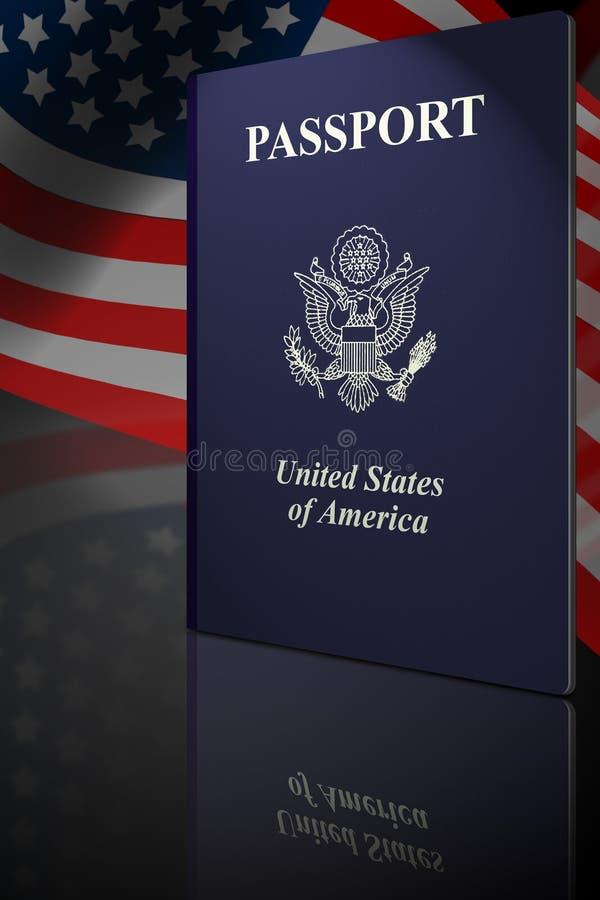 американский пасспорт иллюстрация штока
