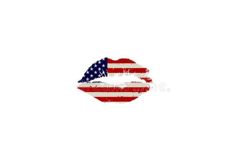 американский поцелуй иллюстрация вектора