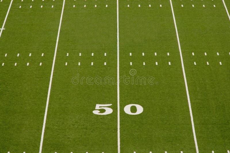 американский пустой футбол поля стоковые изображения