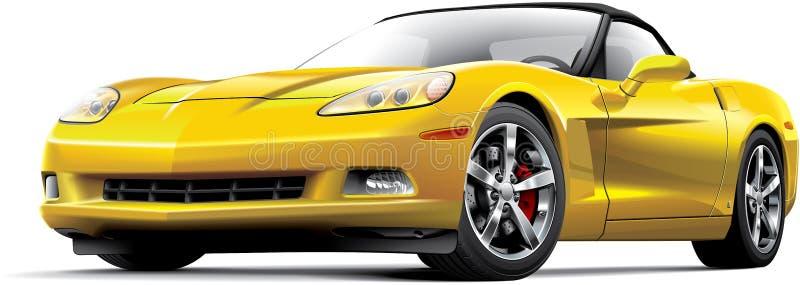 Американский роскошный автомобиль спорт бесплатная иллюстрация