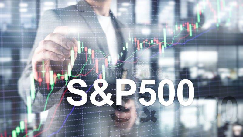 Американский рыночный индекс фондовой биржи s p 500 - SPX Финансовая торгуя концепция дела стоковое фото