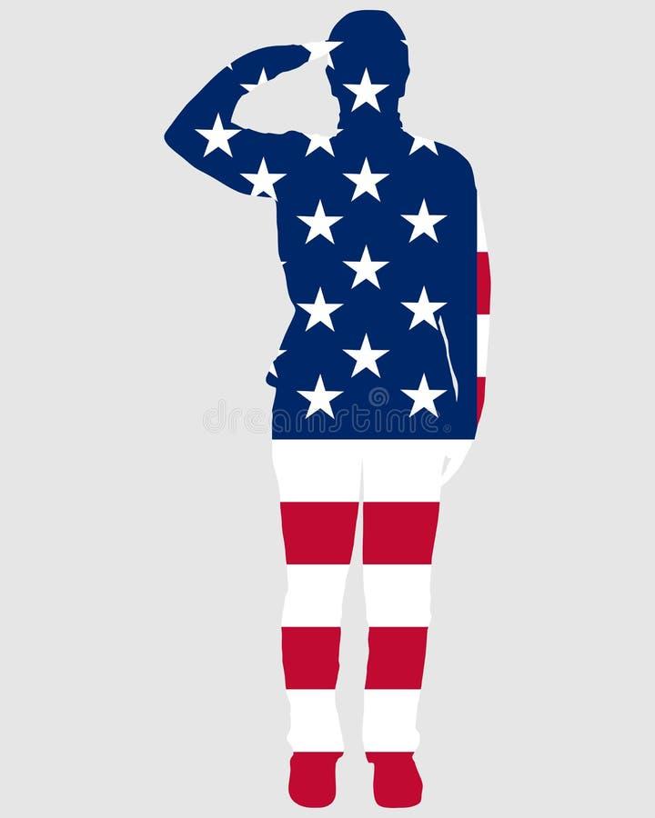 американский салют иллюстрация вектора