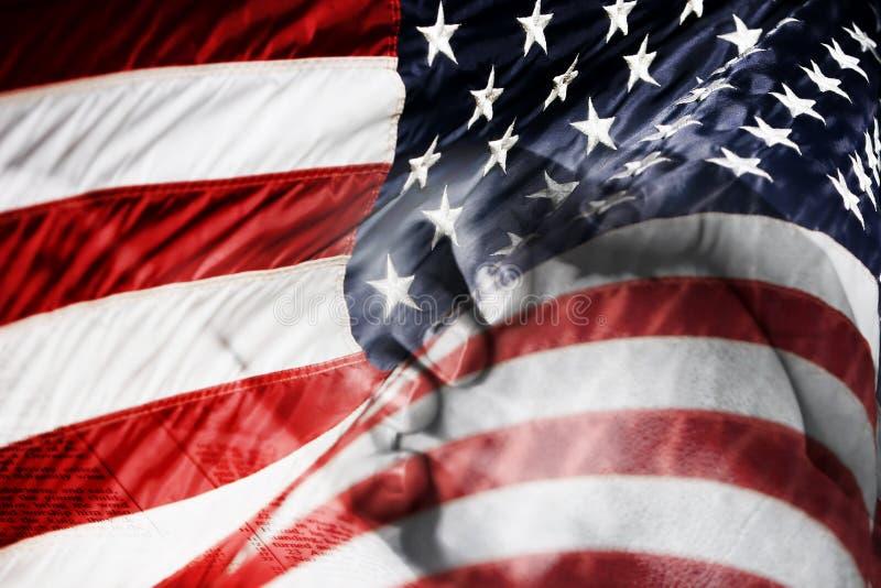 американский смешанный флаг вручает молить изображения стоковые изображения