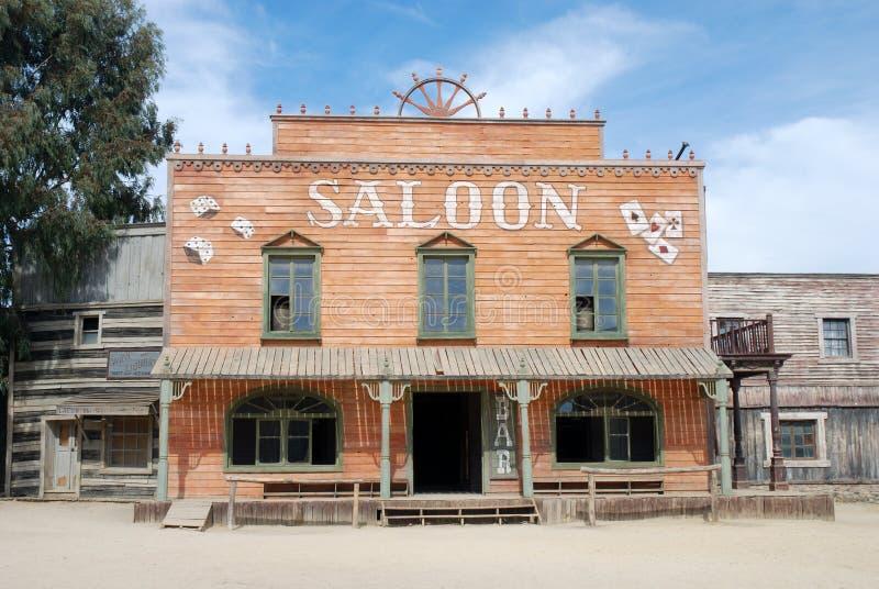 американский старый городок салона стоковое изображение