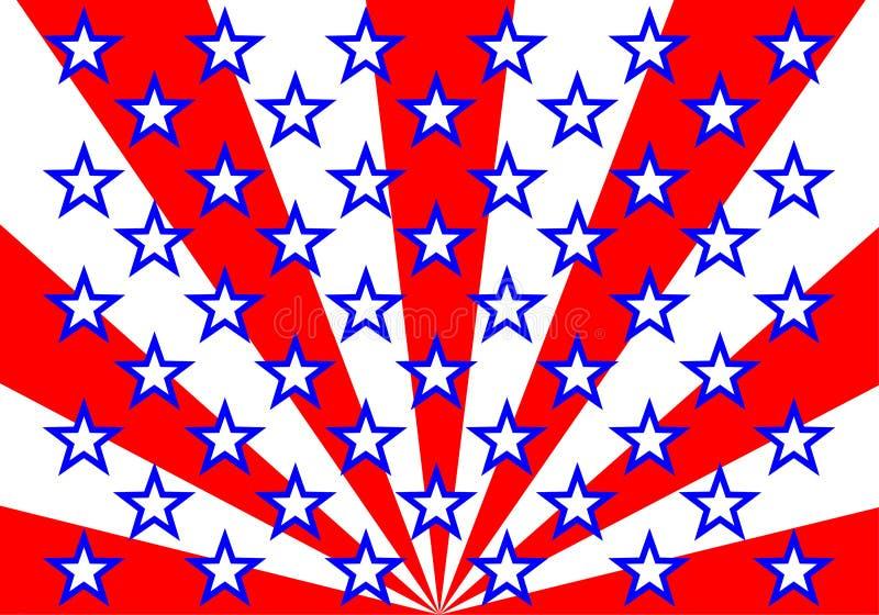 Американский флаг (вектор) бесплатная иллюстрация