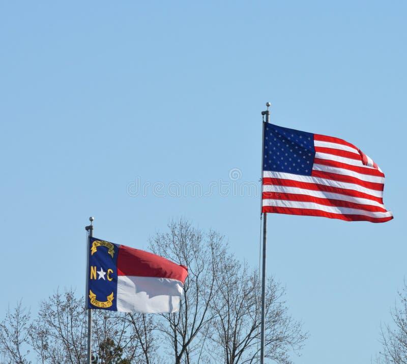 американский флаг ветерка стоковые фото