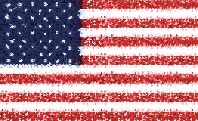 Американский флаг на День независимости также вектор иллюстрации притяжки corel иллюстрация штока