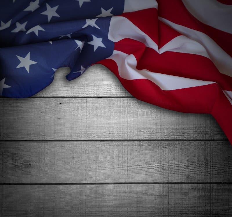 Американский флаг на досках стоковые фотографии rf