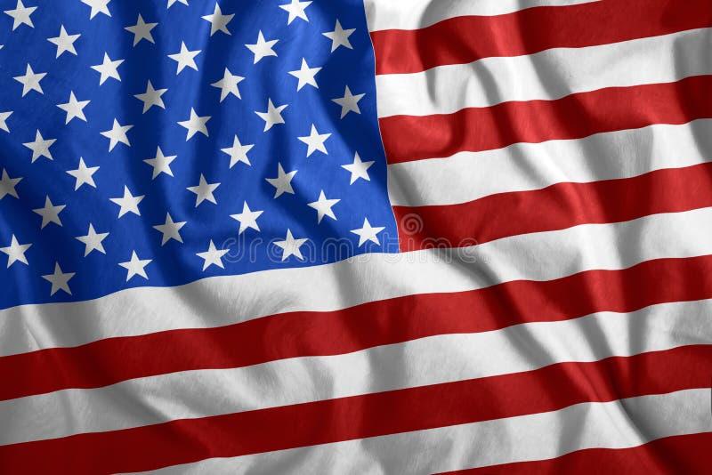 Американский флаг, флаг США летят под ветром Цветной национальный флаг Америки, США Патриотизм, патриотический символ стоковое фото