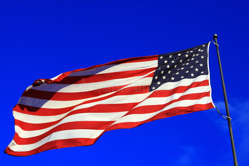 американский флаг яркий стоковые изображения rf