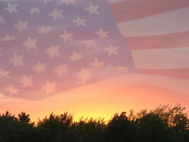 американский флаг 5 стоковое фото rf