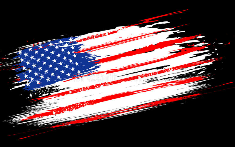 американский флаг grungy иллюстрация штока