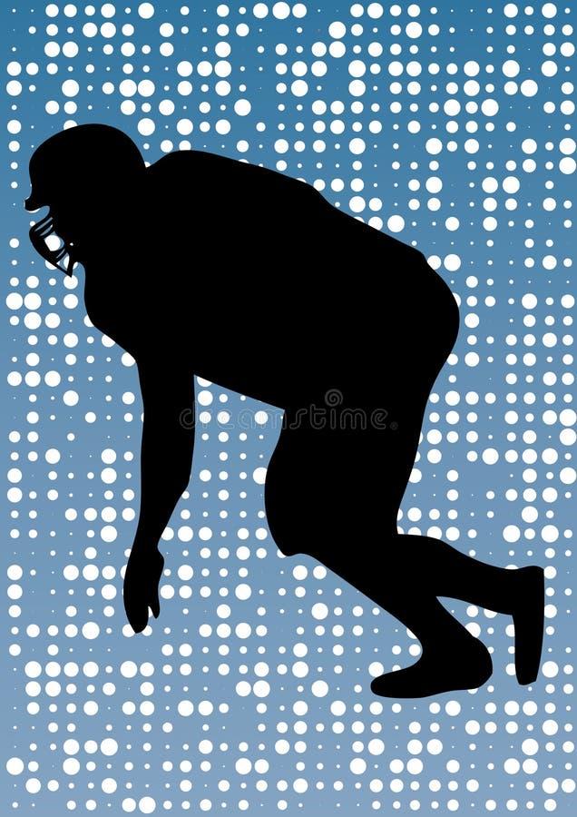 американский футболист иллюстрация вектора