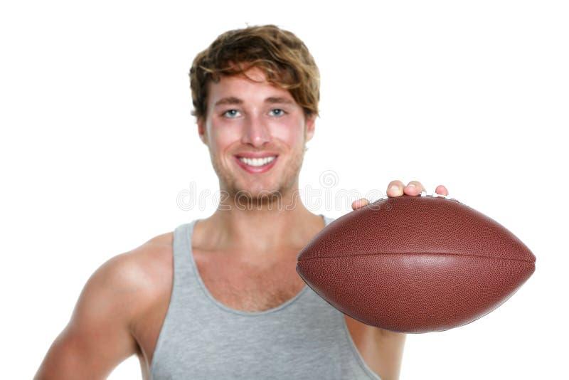 Американский футбол - изолированный человек стоковая фотография
