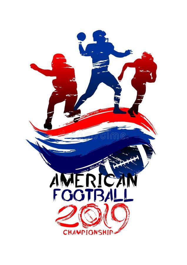американский футбол Иллюстрация вектора резвясь иллюстрация штока