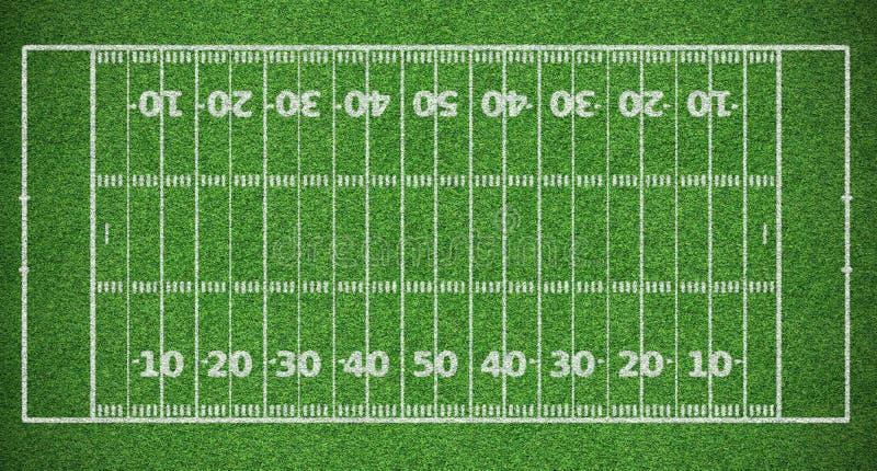 американский футбол поля стоковая фотография rf
