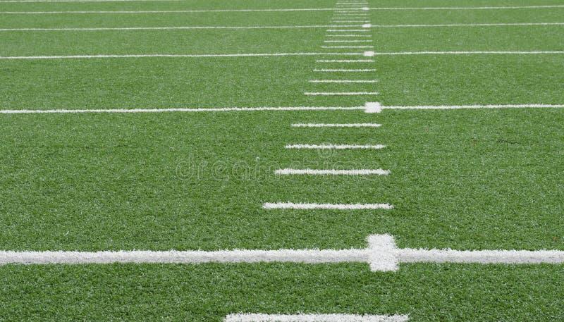 американский футбол поля стоковая фотография