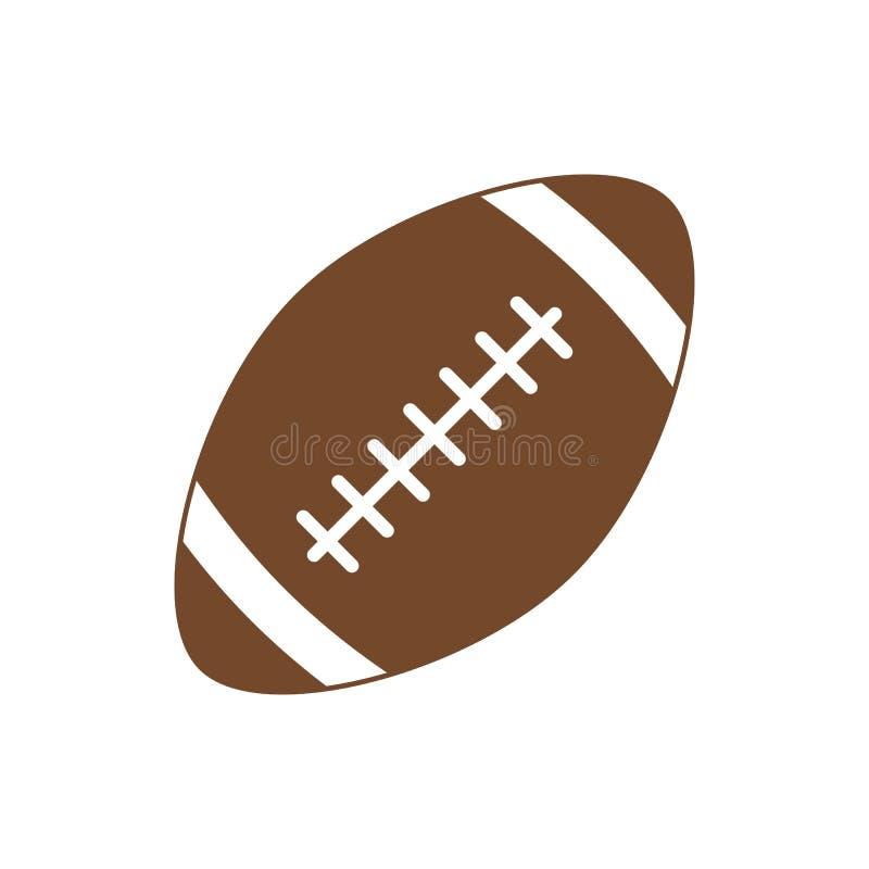 американский футбол Шарик спорта для американского футбола Икона вектора изолированная на белой предпосылке женщина вектора привл иллюстрация штока