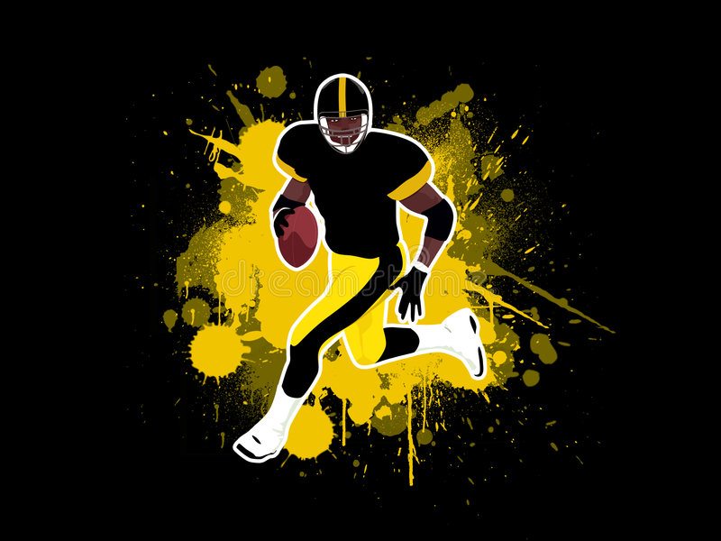 американский футбол 4 иллюстрация штока