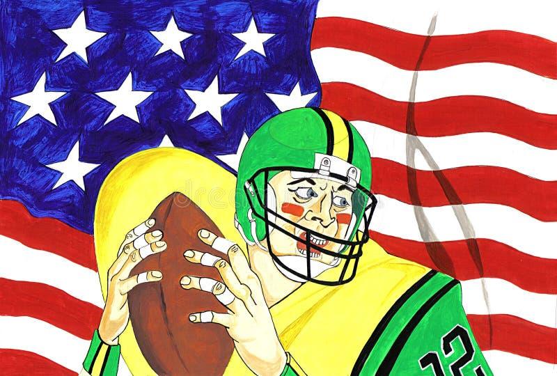 американский футбол иллюстрация штока