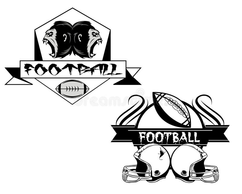американский футбол значка иллюстрация вектора
