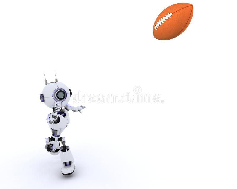 американский футбол играя робот иллюстрация штока