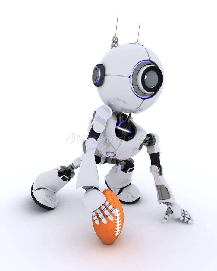 американский футбол играя робот иллюстрация вектора