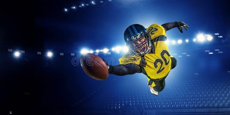 американский футболист Мультимедиа стоковые изображения