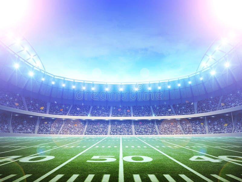 Американский футбольный стадион стоковое фото