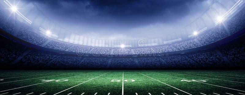 Американский футбольный стадион стоковое изображение rf
