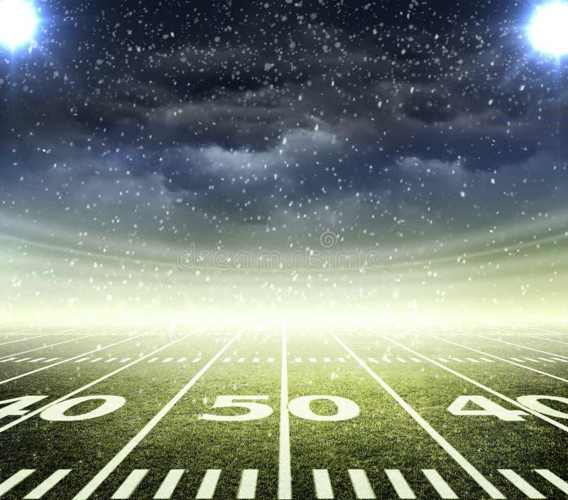 Американский футбольный стадион иллюстрация штока