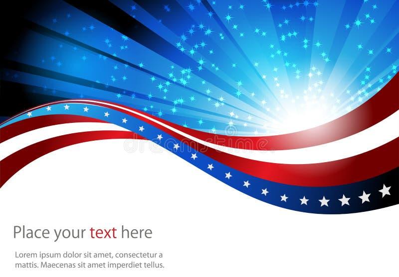 Американский флаг, абстрактная предпосылка  иллюстрация штока