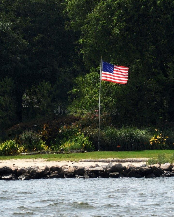 Американский флаг на летний день стоковое фото rf